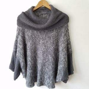 Wooden Ships Mohair Crowl Neck Poncho Sweater M/L